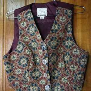 VINTAGE CPX By Mimi Womens Wool V Neck Vest